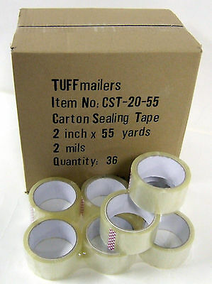 "5 rolls Carton Sealing Clear Packing/Shipping/Box Tape- 2 Mil- 2"" x 55 Yards"