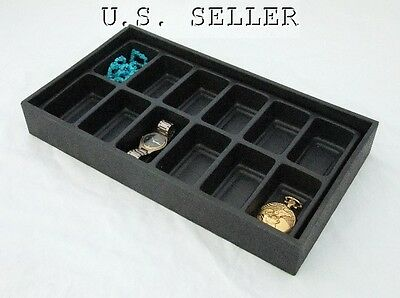 12 Slot Black Stackable Multipurpose Bead/Jewelry Tray