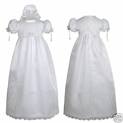 New INFANT & Toddler GIRL CHRISTENING BAPTISM DRESS  0 1 2 3 4 (0M-30M) White