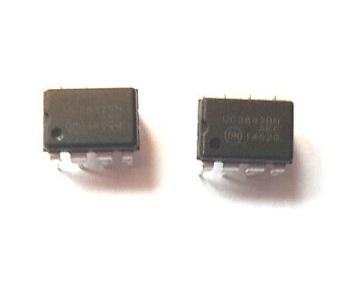 UC3842BN marked UC3842B Current Mode PWM Controller 1A 8-Pin PDIP x2pcs