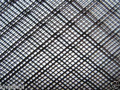 1.2mx15cm PLASTIC NET STRONG BLACK FLEXIBLE HDPE INSECT FISH MESH SCREEN FINE2mm
