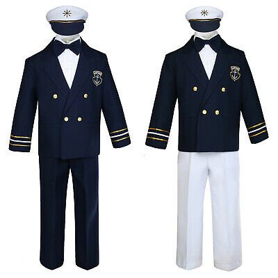 Baby Boy & Toddler Formal Captain Sailor Costume Suit Outfits 6 Months to 7Years