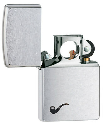 Zippo Pipe Lighter Brushed Chrome Personalised Engraved Free