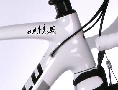 2x Personalised Cycle frame EVOLUTION stickers Road Bike Cycling Helmet