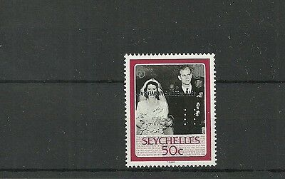 Seychelles Sg674A-Over Print Inverted Mnh