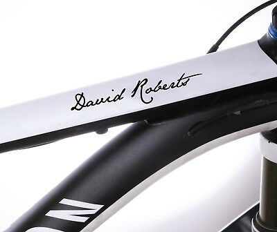 2x Personalised Bike Name Stickers Frame Cycle Cycling Decals