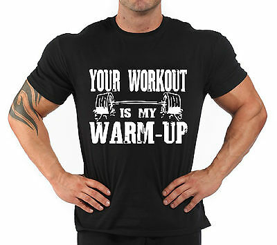 """T-Shirt Bodybuilding Fitness Palestra """"Your Workout is..."""""""