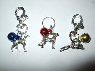 Anti-Theft Purse Bell Charm - Greyhound Dog Security - Handmade Whippet Lurcher