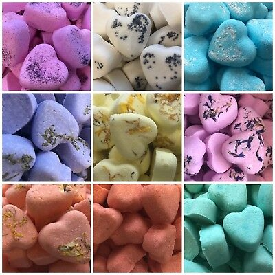 Handmade Heart Wedding Favour Bath Bombs - Birthday, Christmas Gifts