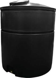 Ecosure 3300 Litre Water Butt Rain Water Harvesting Tank - Black - No Outlet