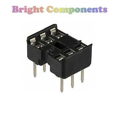 20 x Brand New 6 Pin DIL DIP IC Socket - 1st CLASS POST