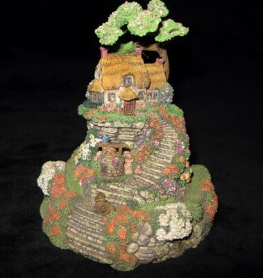 """Franklin Mint """"wishing Well Cottage"""" Hand Painted By Violet L.schwenig"""