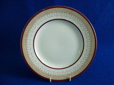 BURLEIGH WARE CREAM RED AND GOLD 20cm SALAD PLATES