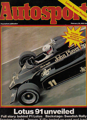 Autosport Feb 25 1982 Metro Supplement Lotus 91 Jaguar XJS Mintex Rally Sparton