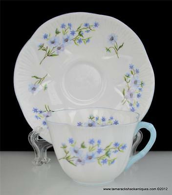 Blue Rock 13591 Shelley Fine Bone China Cup & Saucer Set Flower England Vintage