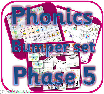 LETTERS AND SOUNDS PHASE 5 phonics Primary teaching resource pack on CD KS1