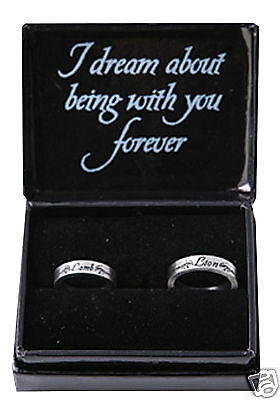 TWILIGHT =LION & LAMB RING SET= Official Jewelery =NEW