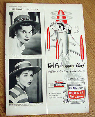 1954 Richardson Root Beer Ad Richies Cool Rich Zippy Flavor Does It