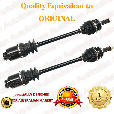 1 Pair Brand New CV Joint Drive Shafts for Subaru Forester 8/97-6/02 ABS IN HUB