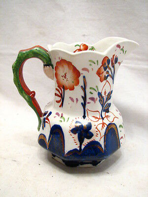 Early Gaudy Welch Dutch Art Pottery Milk Pitcher Allertons 1831 Copper Lustre
