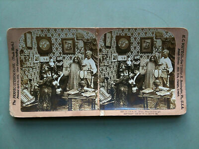 """Stereofotografia/Stereograph n° 5527 """"Why he didn't go""""  H. C. White CO USA 1903"""