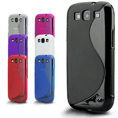 Slim Fit Gel Silicone Case Cover for Samsung Galaxy S3 Mini i8190 / S3 i9300