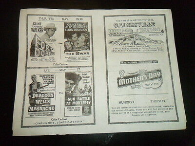 Vintage 1950S Drive In Movie Theater Ad Flyer Westerns Dragoon Wells Fort Dobbs!
