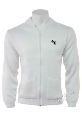 Bowls Lawn Bowling White Zip Pocket Cardigan with Logo