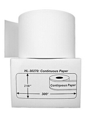 15 Rolls of Continuous Receipt Paper  for DYMO® LabelWriters® 30270 (BPA Free)