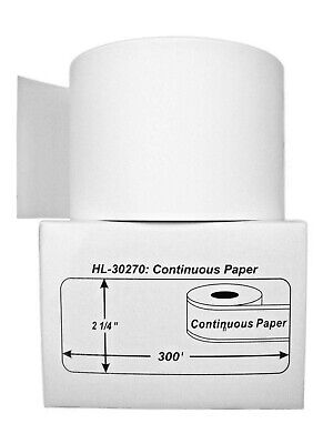 4 Rolls of Continuous Receipt Paper  for DYMO® LabelWriters® 30270 (BPA Free)