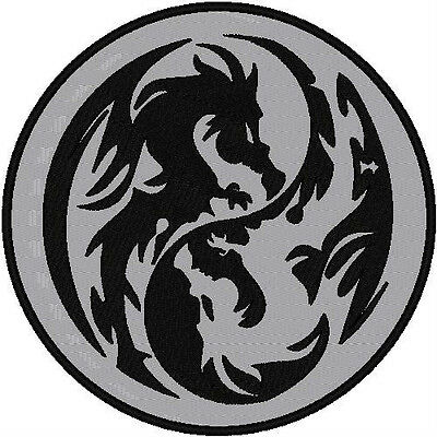 Custom Embroidered Reflective Dragon  Patch 4 Inch