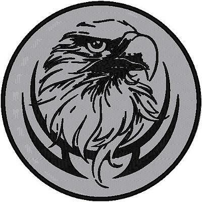 CUSTOM EMBROIDERED REFLECTIVE EAGLE  PATCH 4 INCH