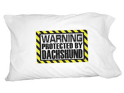 Warning Protected by Dachshund Novelty Bedding Pillowcase Pillow Case