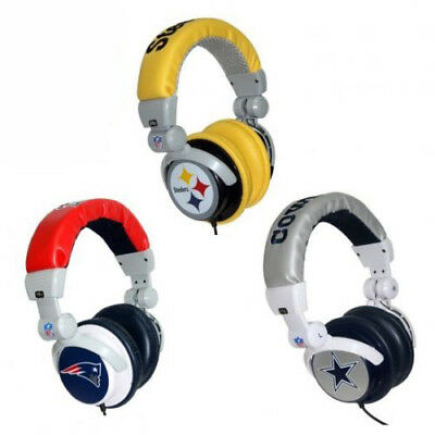 Official Licensed iHip NFL PRO DJ Headphones w/Inline Vol Control