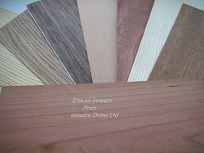 Iron on Wood Veneer Oak, Walnut, Beech, Mahogany, Pine, Ash, Cherry