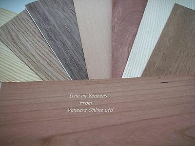 Iron on Wood Veneer Oak, Walnut, Teak, Beech, Mahogany, Pine, Ash, Cherry, Wenge