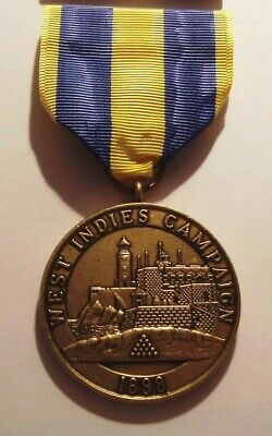 1898 U.S. Navy West Indies Campaign Medal with RIBBON