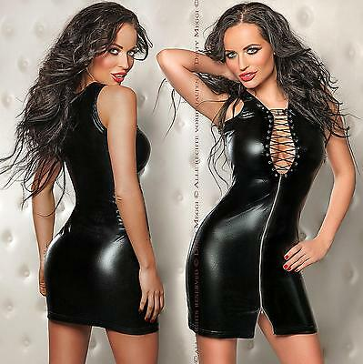 Wetlook Minikleid Kleid GOGO Clubwear Party Größe S-M 36-38