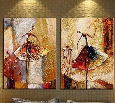 2 pieces Large Modern Abstract Art Oil Painting Wall Decor canvas No frame