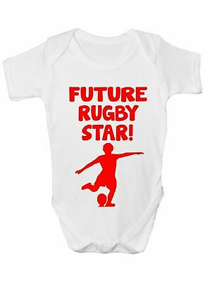 Future Rugby Star Sport Funny Babygrow Vest Gift  Baby Clothing