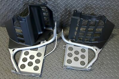 NEW Silver Heel Guards footrest Yamaha Banshee left & right nerf bars plastic