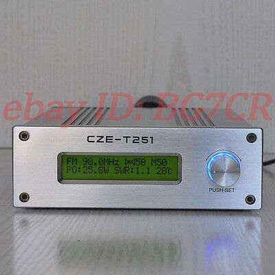 CZE-T251 0-25W LCD PLL stereo broadcast radio station FM transmitter/exciter