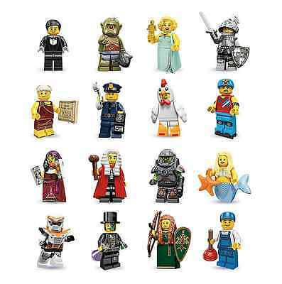 Lego New Series 9 Minifigures All 16 Available You Pick Cop Elf Chicken More