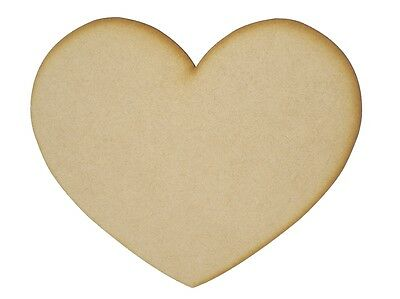 MDF Heart Wooden Shapes 7.5cm 75mm High 3mm Thick Custom Cut x 10 pieces 033