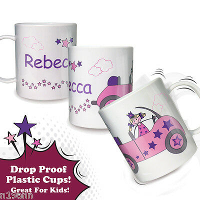 New Personalise With A Name Lttle Princess Plastic Cup Girls Gift Any Occasion