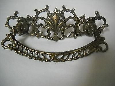 "Antique Victorian Brass Drawer Pull 3"" Centers"