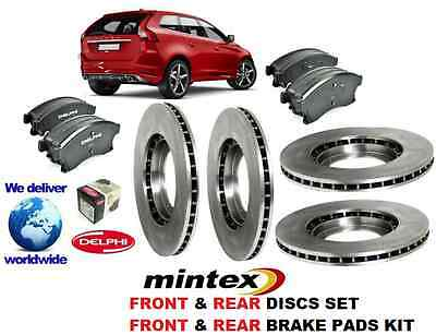 For Volvo Xc60 All Models 2008  Front + Rear  Brake Discs Set And Disc Pads