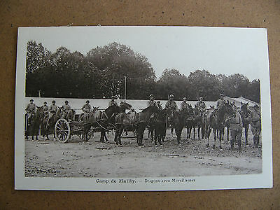 10.cpa.camp De Mailly . Dragons Avec Mitrailleuses. Militaire