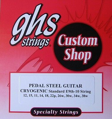 GHS Custom E9th-10 CRYOGENIC Pedal Steel Guitar Strings - 2 set
