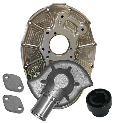 KSE WATER PUMP & BILLET ALUM SBC FRONT COVER W/SHORT B-Os,ALUM DRIVE,SPRINT CAR